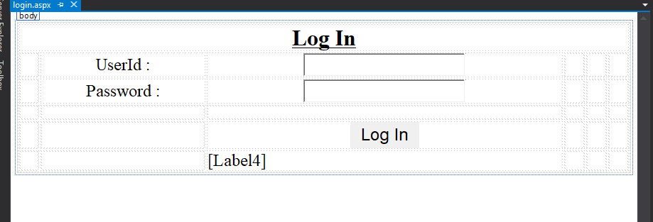 Creating a Login System